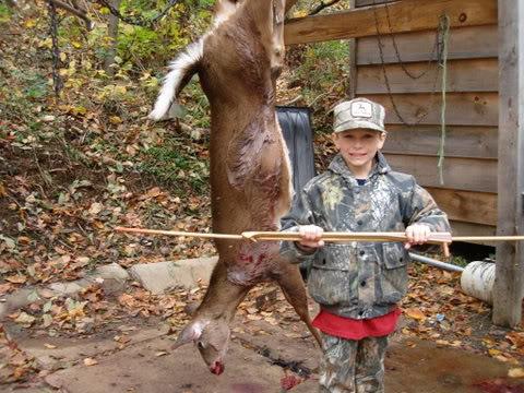 not the actual kid, or deer