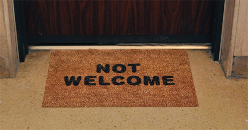 not-welcome-doormat-israel