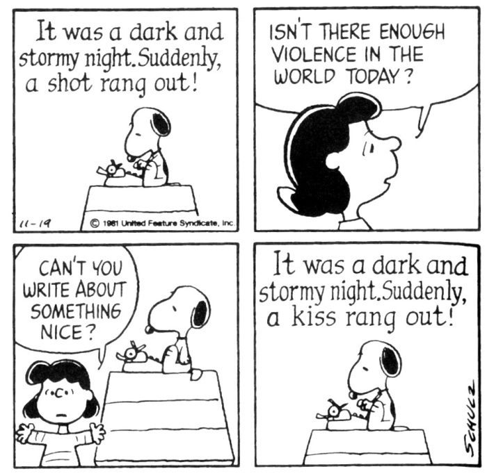 Snoopy dark stormy kiss