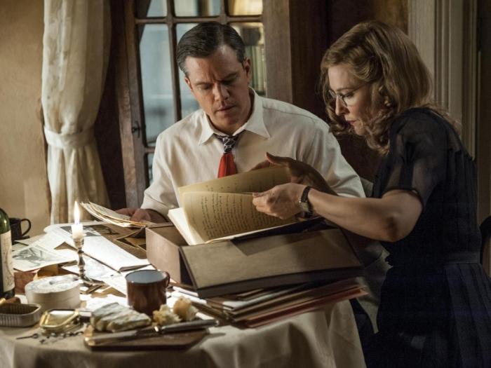 Matt-Damon-and-Cate-Blanchett-in-The-Monuments-Men-2013-Movie-Image