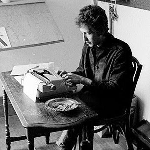 Dylan at the Typewriter