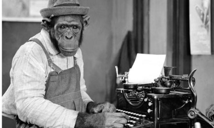 Chimpanzee at Typewriter